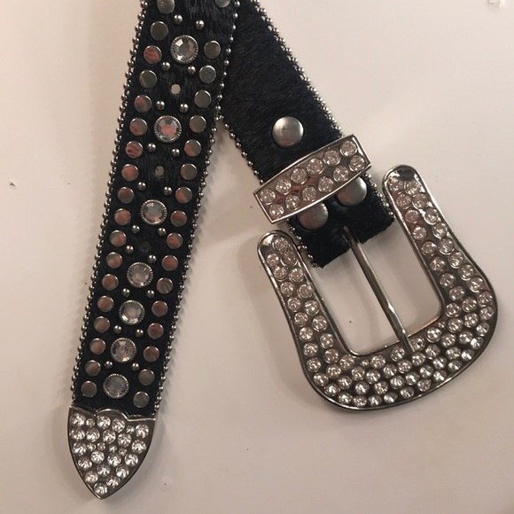Nocona Accessories - Country fur & rhinestone belt